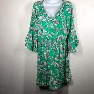 A New Day green floral dress size large